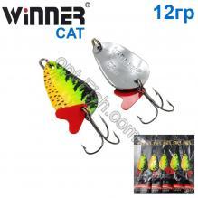 Блесна Winner колебалка TBZ-008 CAT 12g 018# *