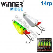 Блесна Winner колебалка W-001 MIDGE 14g 039# *