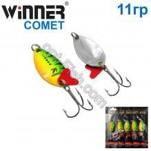 Блесна Winner колебалка W-015 COMET 11g 020# *