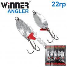 Блесна Winner колебалка W-028 ANGLER 22g 001# *