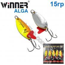 Блесна Winner колебалка W-031 ALGA 15g 018# *