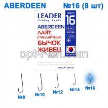 Крючок стандартный Leader Aberdeen Nickel № 16 ()