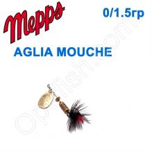 Блесна  Mepps AGLIA MOUCHE zlota/BLACK fly  00/1,5g