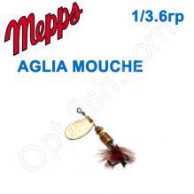 Блесна  Mepps AGLIA MOUCHE zlota/RED fly 1/3,6g