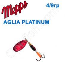 Блесна  Mepps AGLIA PLATIUM red rouge 4/9g
