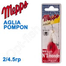 Блесна  Mepps AGLIA POMPON srebrna silver 2/4,5g