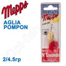 Блесна  Mepps AGLIA POMPON zlota gold 2/4,5g