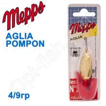 Блесна  Mepps AGLIA POMPON zlota gold 4/9g
