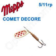 Блесна  Mepps COMET DECORE zloty/czerwone kropki  5/11g