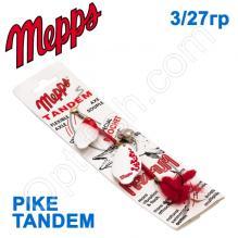Блесна  Mepps PIKE TANDEM bialy/czerwony white-red 3/27g
