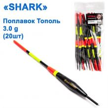 Поплавок Shark Тополь T2-30B0402 (20шт)
