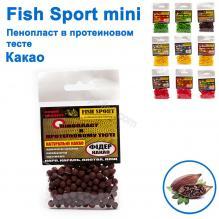 Пенопласт в протеиновом тесте Fish Sport mini (фидер-какао)