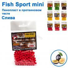 Пенопласт в протеиновом тесте Fish Sport mini (слива)