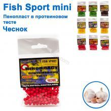 Пенопласт в протеиновом тесте Fish Sport mini (чеснок)