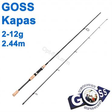 Спиннинговое удилище шт2 Goss Kapas A04-244 2-12g 2,44м * оптом недорого в Украине
