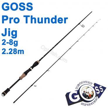 Спиннинговое удилище шт2 Goss Pro Thunder Jig A08-228 2-8g 2,28м * оптом недорого в Украине