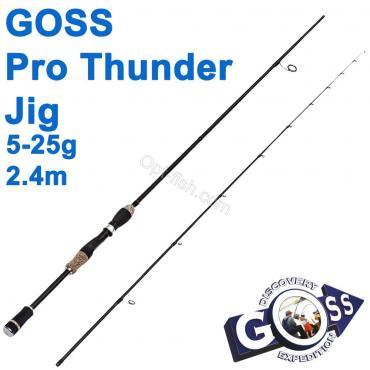Спиннинговое удилище шт2 Goss Pro Thunder Jig A08-240 5-25g 2,4м * оптом недорого в Украине