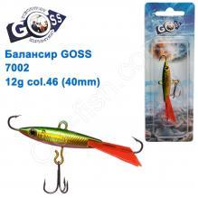 Балансир Goss 7002 12g col. 46 (40mm)