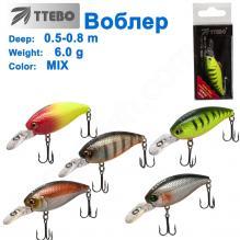 Воблер Ttebo S-STR50 (0,5-0,8m) 6g MIX