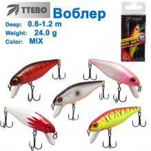 Воблер Ttebo S-CHT100 (0,6-1,2m) 24g MIX