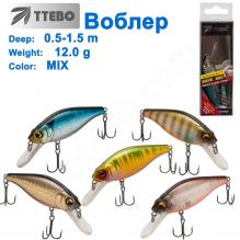 Воблер Ttebo S-LI70 (0,5-1,5m) 12g MIX