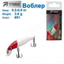 Воблер Ttebo M-RUF50 (0,5-0,8m) 3,6g #51
