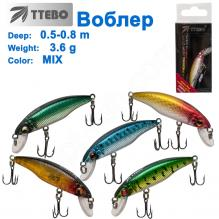 Воблер Ttebo M-RUF50 (0,5-0,8m) 3,6g MIX