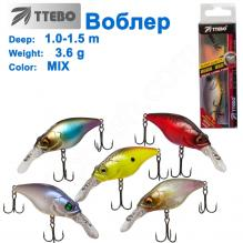 Воблер Ttebo C-AK60 (1-1,5m) 3,6g MIX
