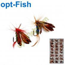 Набор нахлыстовый Stream бабочка (2шт) 24кор *