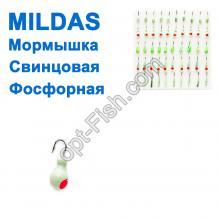 Мормышка свинцовая набор фосфорная (50шт)