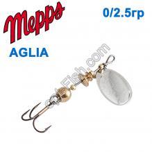 Блесна Mepps Aglia srebrna-silver 0/2,5g