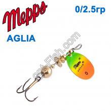 Блесна Mepps Aglia fluo tiger 0/2,5g
