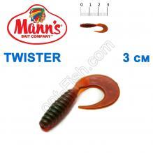 Силикон Manns Twister MO-035-30мм (20шт)