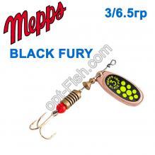 Блесна Mepps Black fury miedz/seledynowe-chartr. 3/6,5g