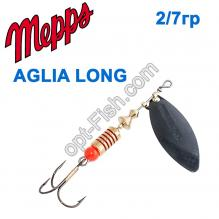 Блесна Mepps Aglia long czarna-black 2/7g