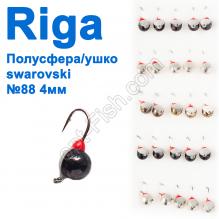 Мормышка вольф. Riga 11304008 полусфера/ушко swarovski 4мм (25шт) №88