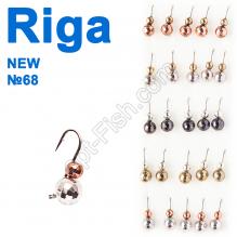 Мормышка вольф. Riga NEW 134042 №68 (25шт)