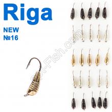 Мормышка вольф. Riga NEW 124035 №16 (25шт)