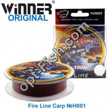 Леска Winner Original Fire Line Carp №H001 100м 0,18мм *