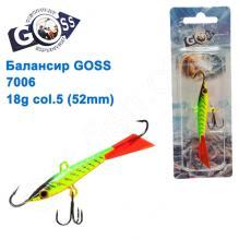Балансир Goss 7006 18g col. 5 (52mm)