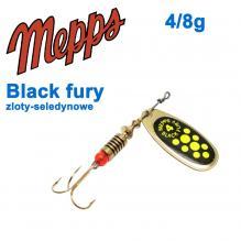 Блесна  Mepps BLACK FURY zloty/seledynowe chartr. 4/8g