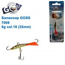 Балансир Goss 7009 6g col. 18 (32mm)