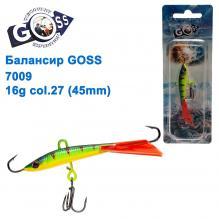 Балансир Goss 7009 16g col. 27 (45mm)