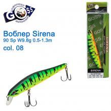 Воблер Goss Sirena 90Sp W9,8g 0,5-1,3m col. 08