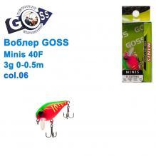 Воблер Goss Minis 40F W4,3g 0-0,5m col. 06