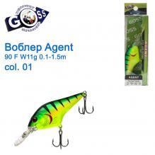 Воблер Goss Agent 90F W11g Floating 0,1-1,5g col. 01