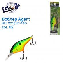 Воблер Goss Agent 90F W11g Floating 0,1-1,5g col. 02
