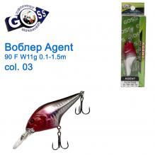 Воблер Goss Agent 90F W11g Floating 0,1-1,5g col. 03