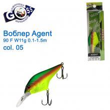 Воблер Goss Agent 90F W11g Floating 0,1-1,5g col. 05