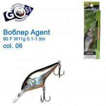 Воблер Goss Agent 90F W11g Floating 0,1-1,5g col. 06